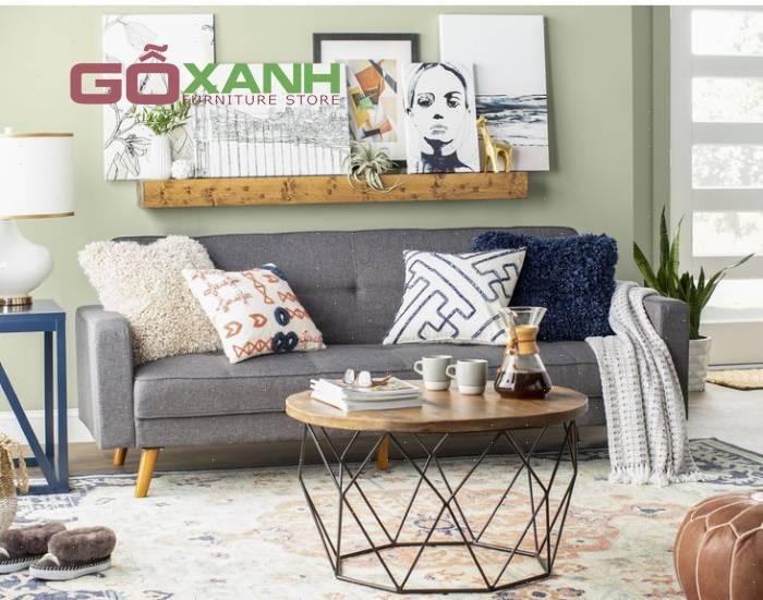 Ghế sofa kích thước nhỏ cho tiết kiệm không gian cho phòng khách