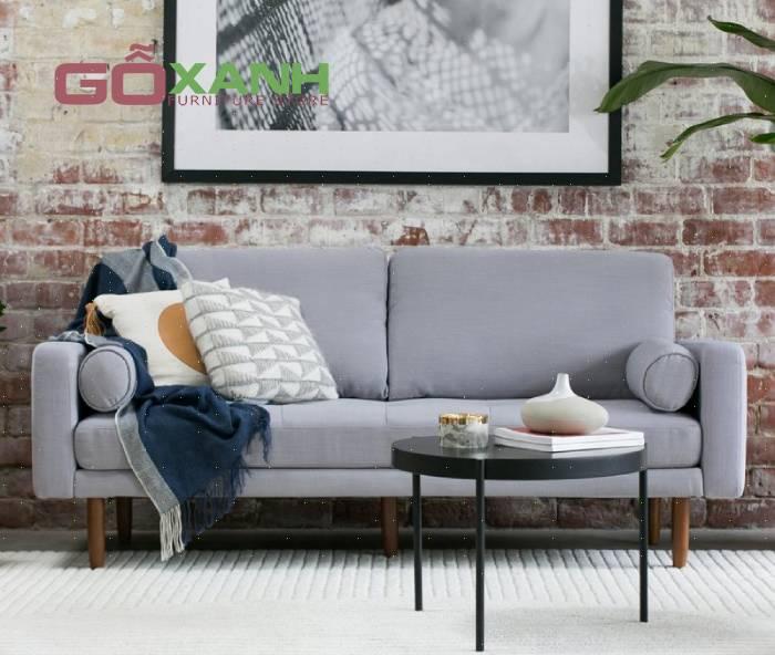 Sofa băng dài 2 người ngồi cho phòng khách kích thước mini