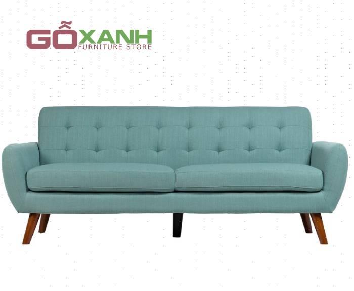 Ghế sofa mini giá rẻ cho phòng khách kiểu dáng hiện đại bọc vải màu xanh